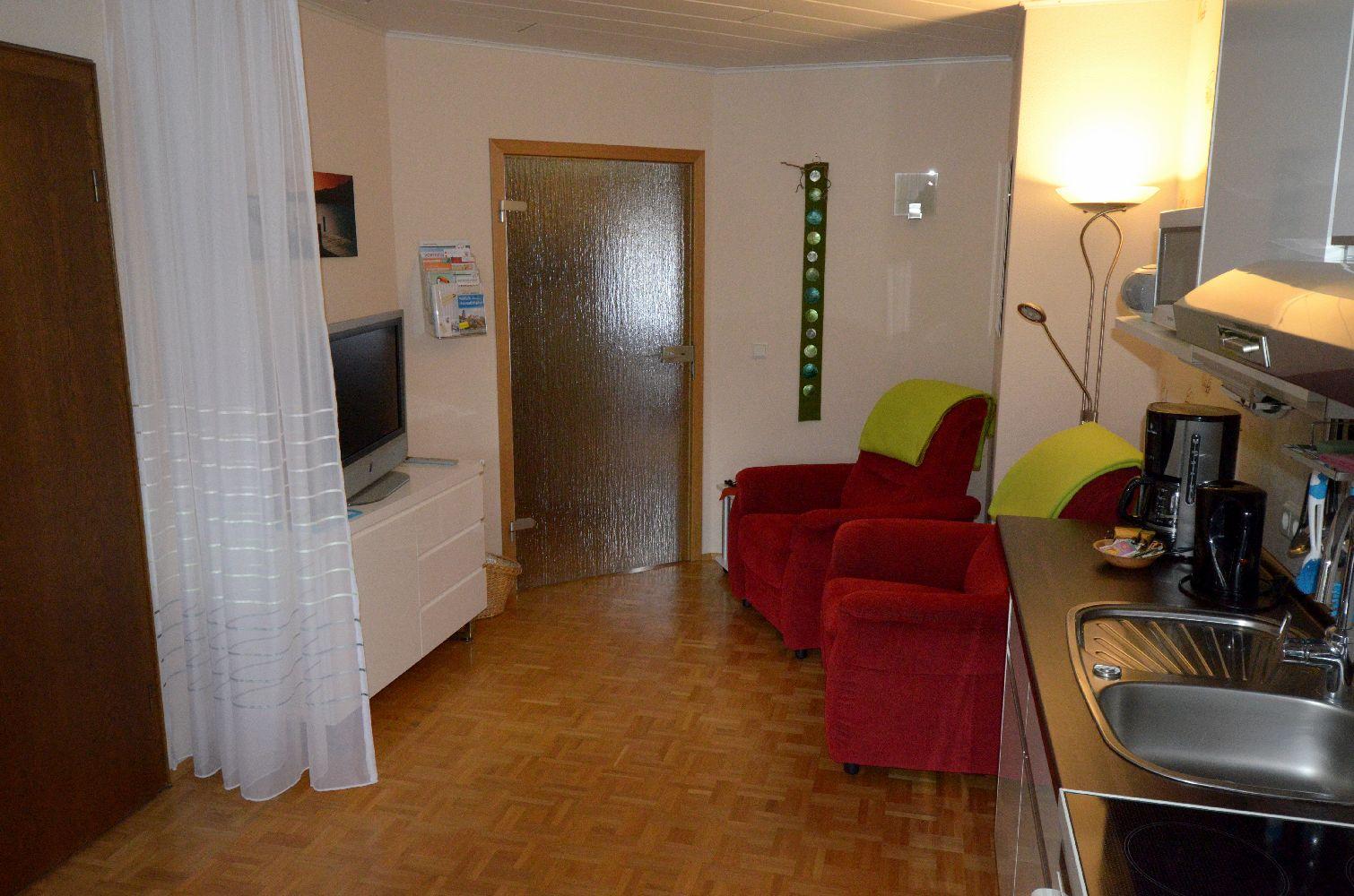 Wohnbereich Küche Ferienappartment Becker
